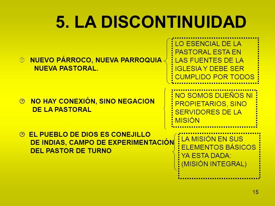 5. LA DISCONTINUIDAD