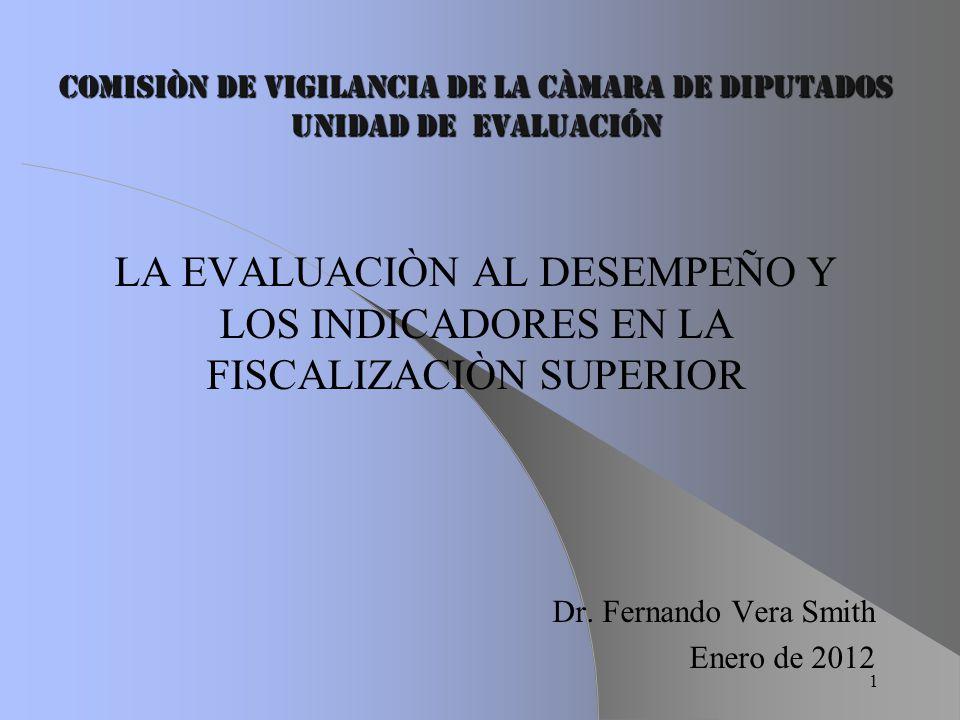 COMISIÒN DE VIGILANCIA DE LA CÀMARA DE DIPUTADOS Unidad de EvaluaciÓn