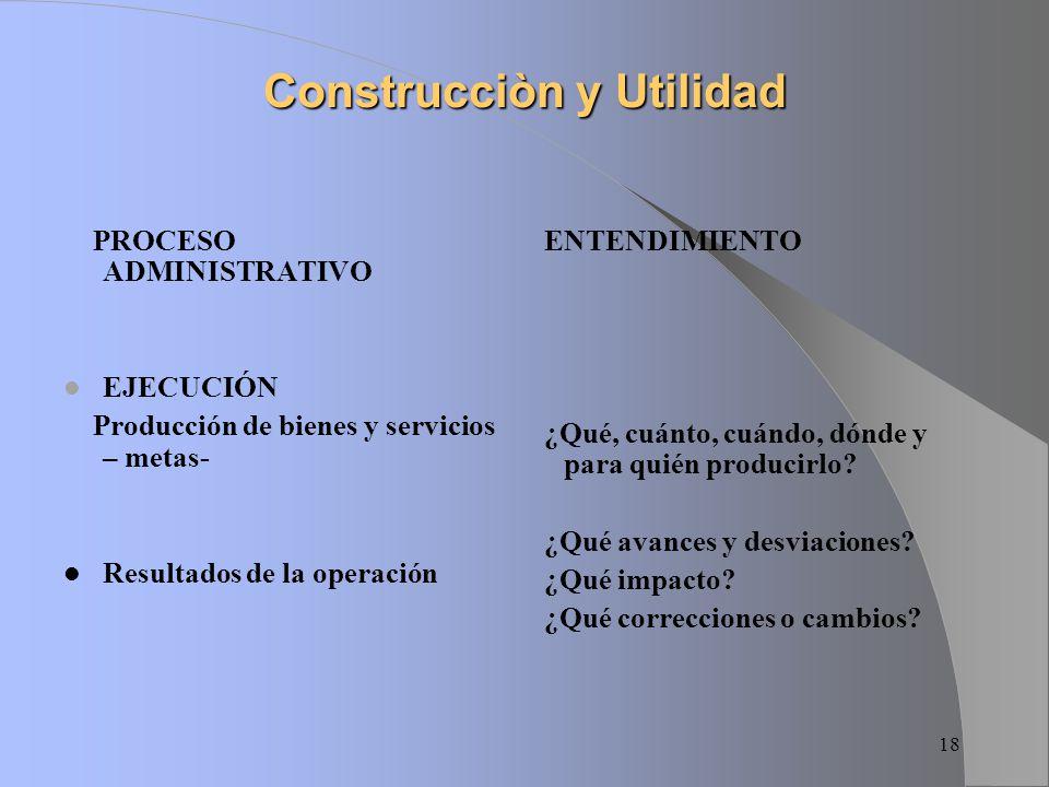 Construcciòn y Utilidad