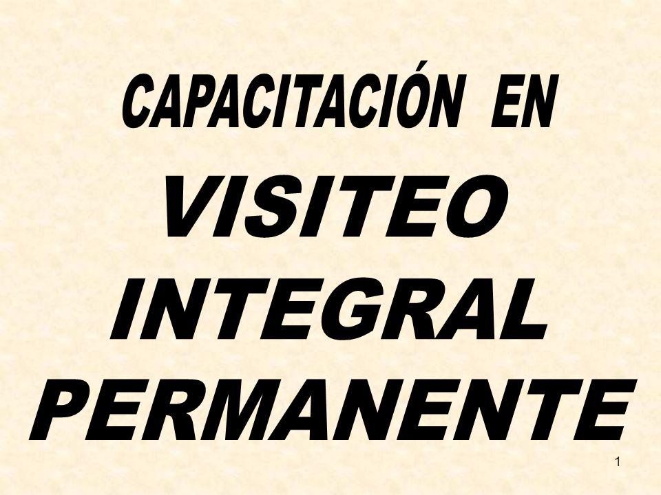 CAPACITACIÓN EN VISITEO INTEGRAL PERMANENTE