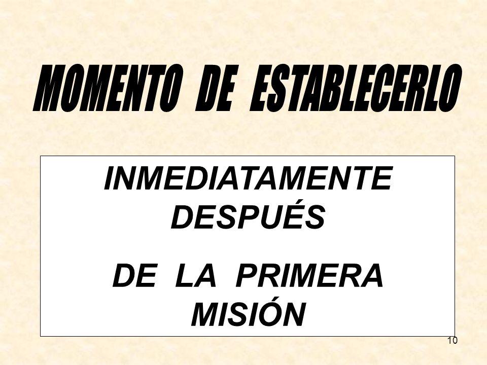 MOMENTO DE ESTABLECERLO