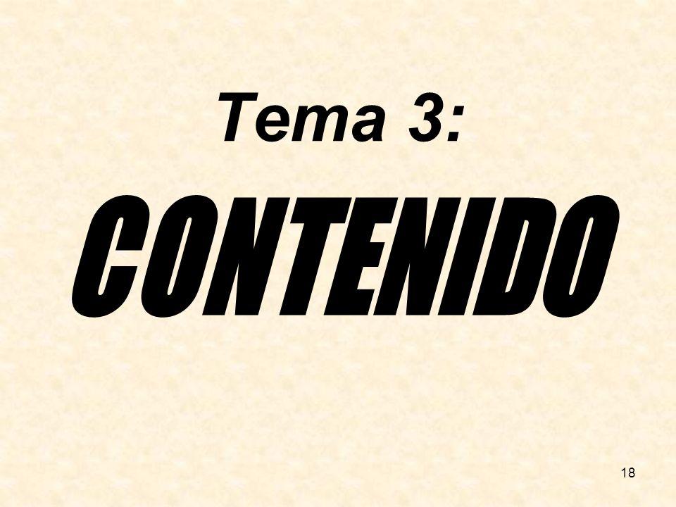 Tema 3: CONTENIDO 18