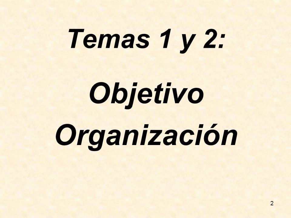 Objetivo Organización
