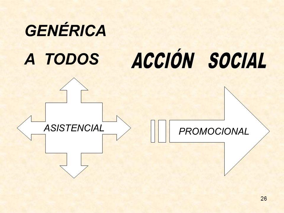 GENÉRICA A TODOS ACCIÓN SOCIAL ASISTENCIAL PROMOCIONAL 26