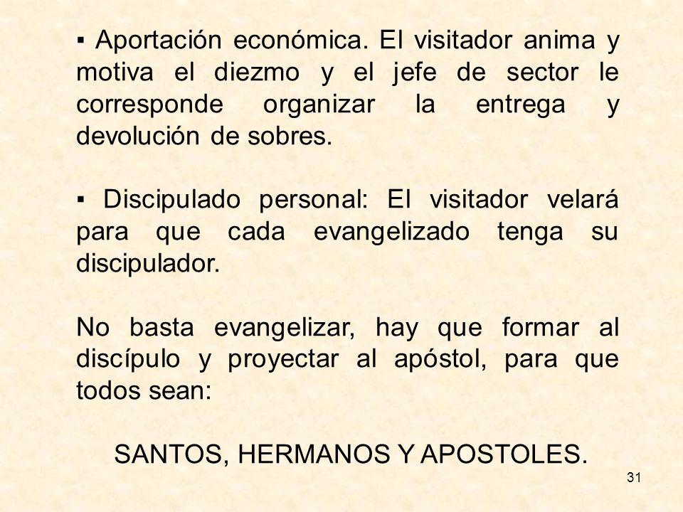 SANTOS, HERMANOS Y APOSTOLES.