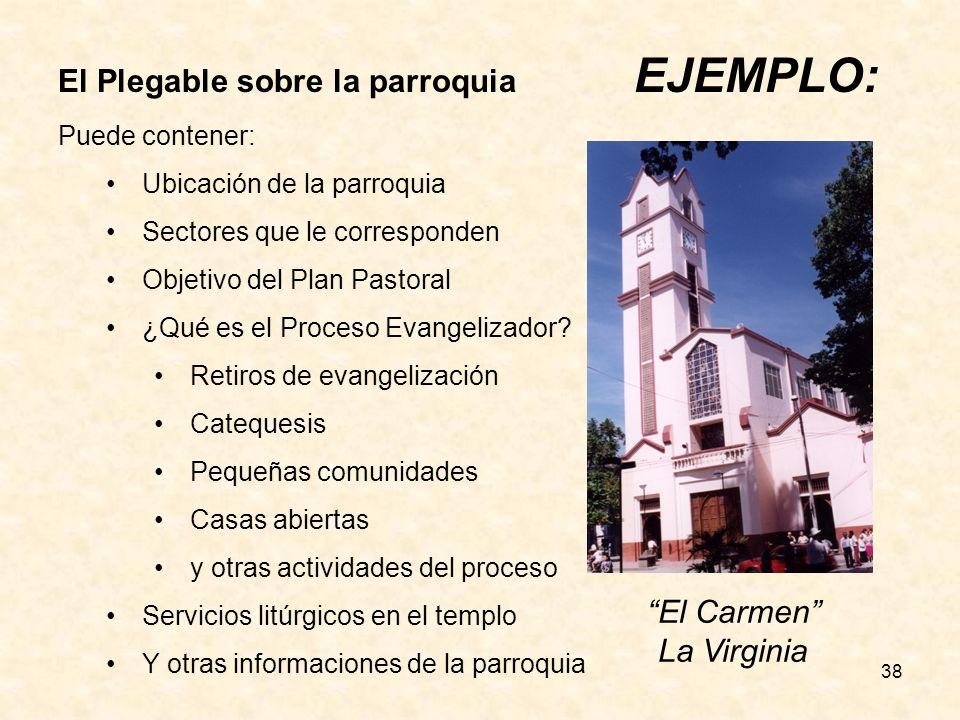 El Plegable sobre la parroquia EJEMPLO: