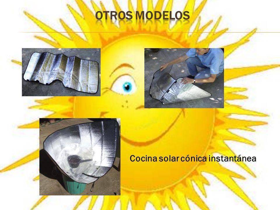 OTROS MODELOS Cocina solar cónica instantánea