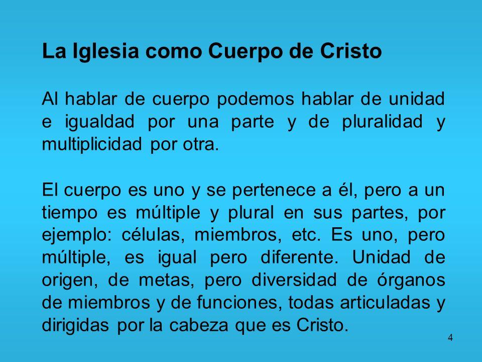La Iglesia como Cuerpo de Cristo