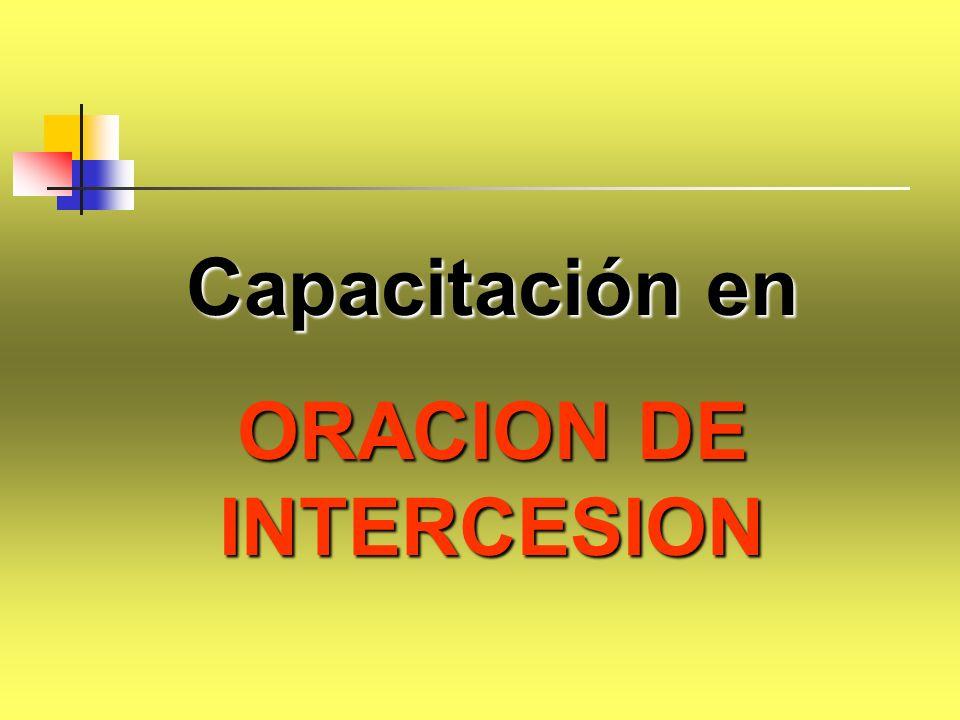 ORACION DE INTERCESION