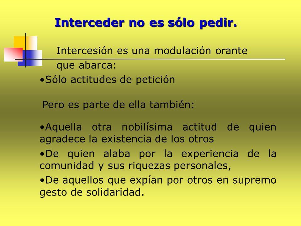 Intercesión es una modulación orante