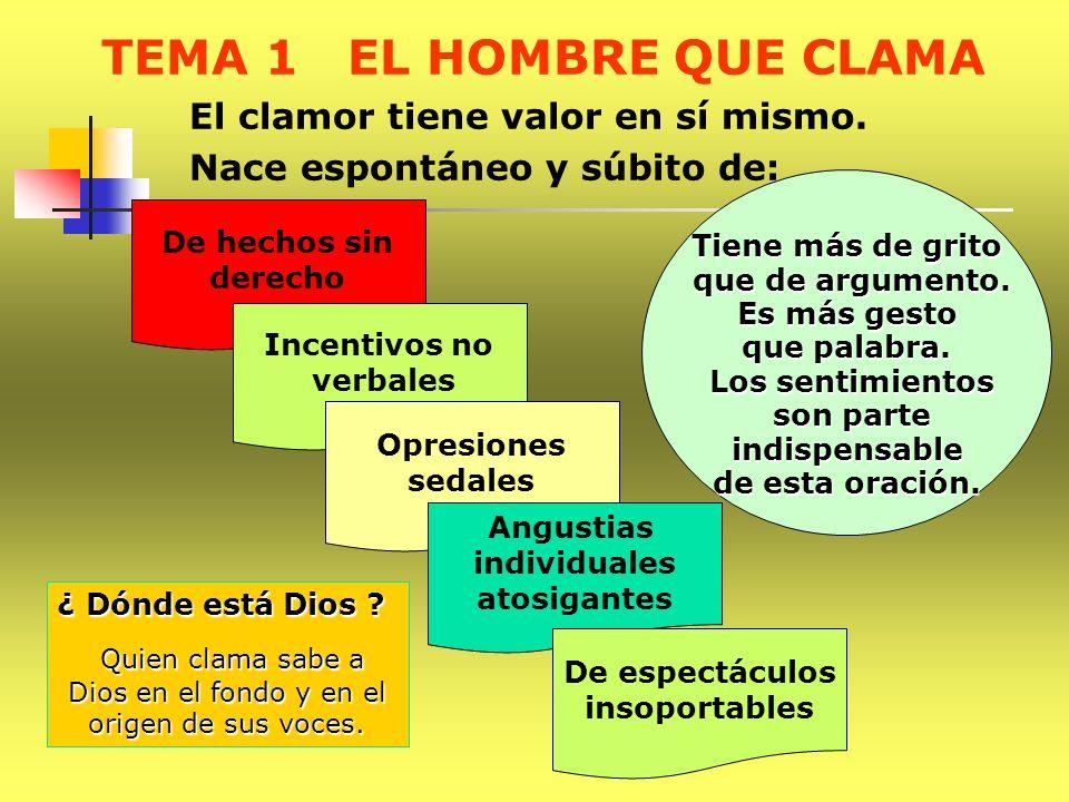 TEMA 1 EL HOMBRE QUE CLAMA