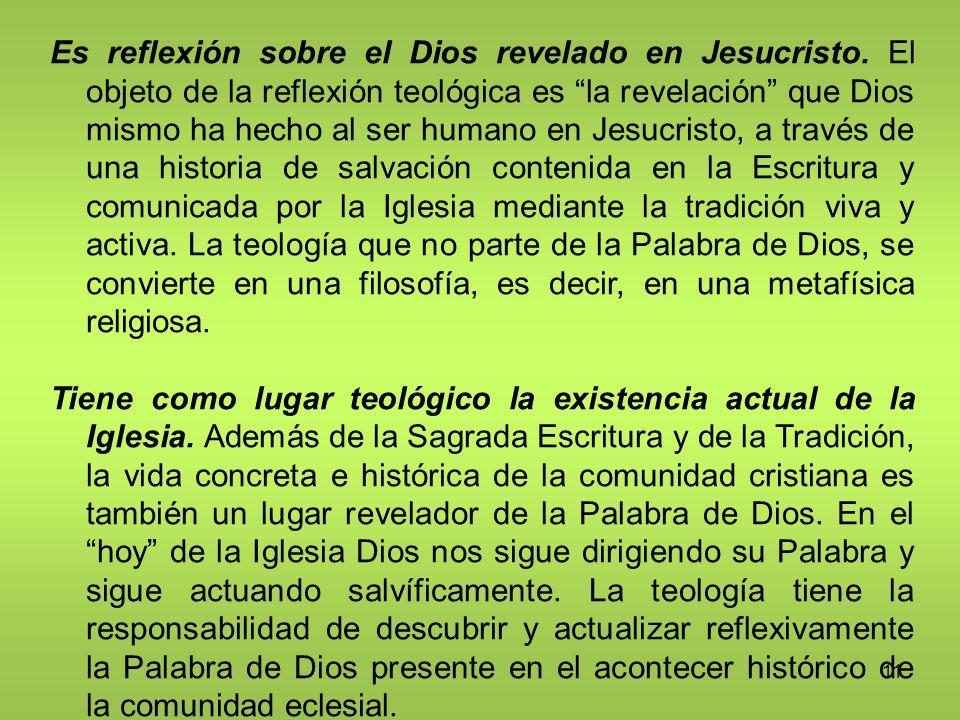 Es reflexión sobre el Dios revelado en Jesucristo