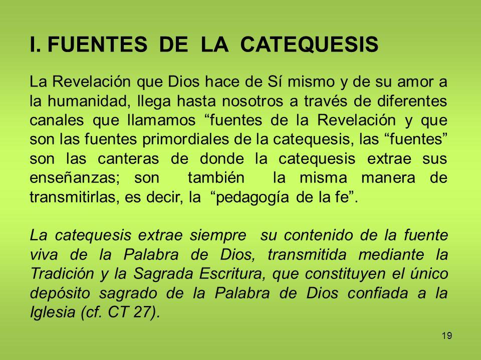 I. FUENTES DE LA CATEQUESIS