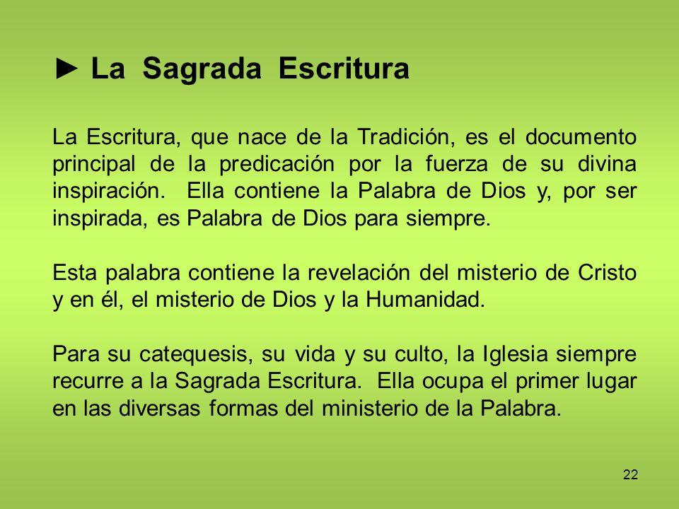 ► La Sagrada Escritura