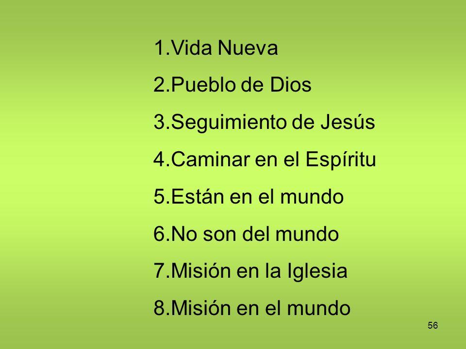Vida Nueva Pueblo de Dios Seguimiento de Jesús Caminar en el Espíritu