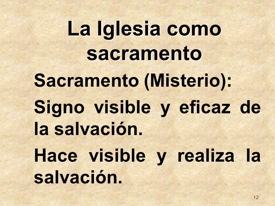 La Iglesia como sacramento