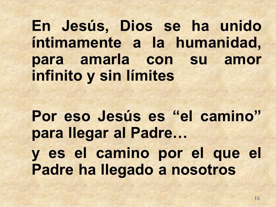 En Jesús, Dios se ha unido íntimamente a la humanidad, para amarla con su amor infinito y sin límites