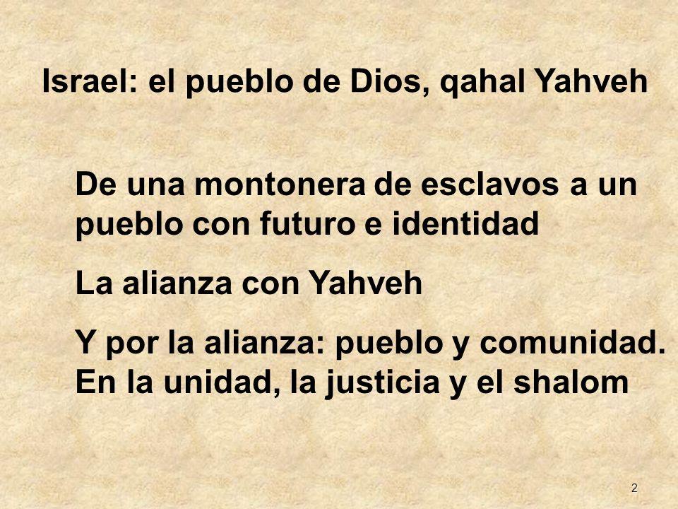 Israel: el pueblo de Dios, qahal Yahveh