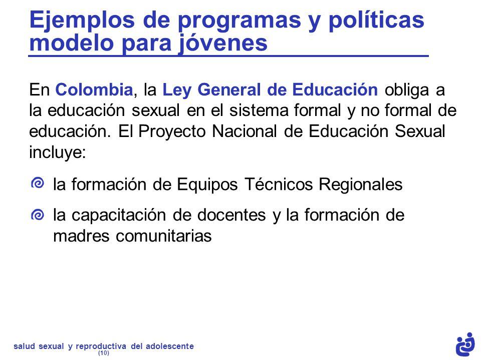 Ejemplos de programas y políticas modelo para jóvenes