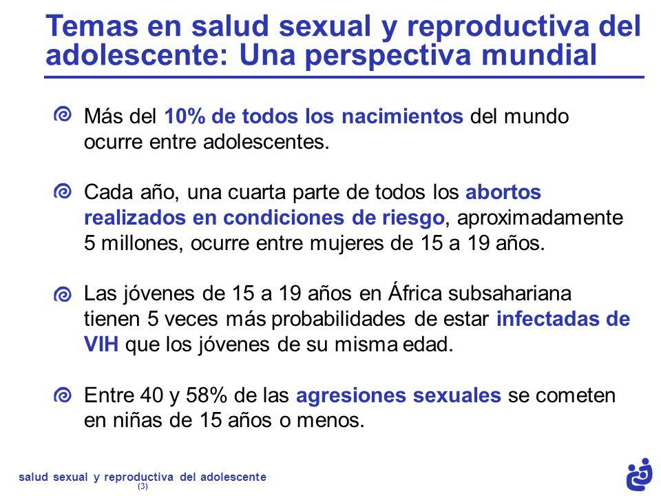Temas en salud sexual y reproductiva del adolescente: Una perspectiva mundial