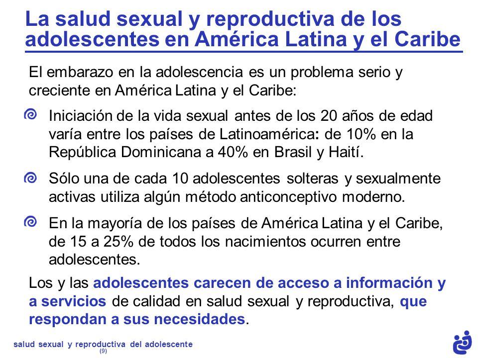 La salud sexual y reproductiva de los adolescentes en América Latina y el Caribe