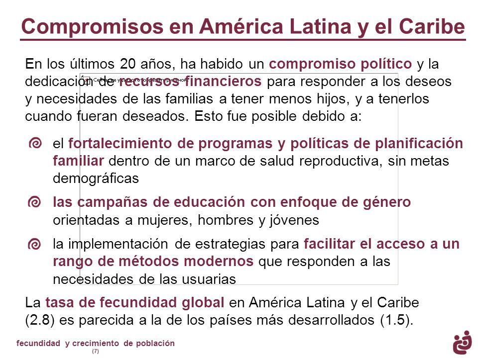 Compromisos en América Latina y el Caribe