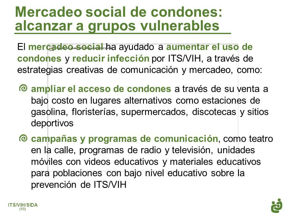 Mercadeo social de condones: alcanzar a grupos vulnerables