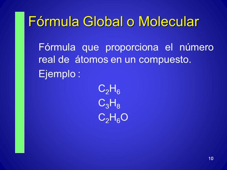 Fórmula Global o Molecular