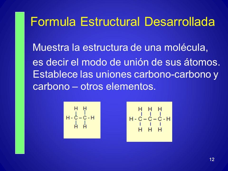 Formula Estructural Desarrollada