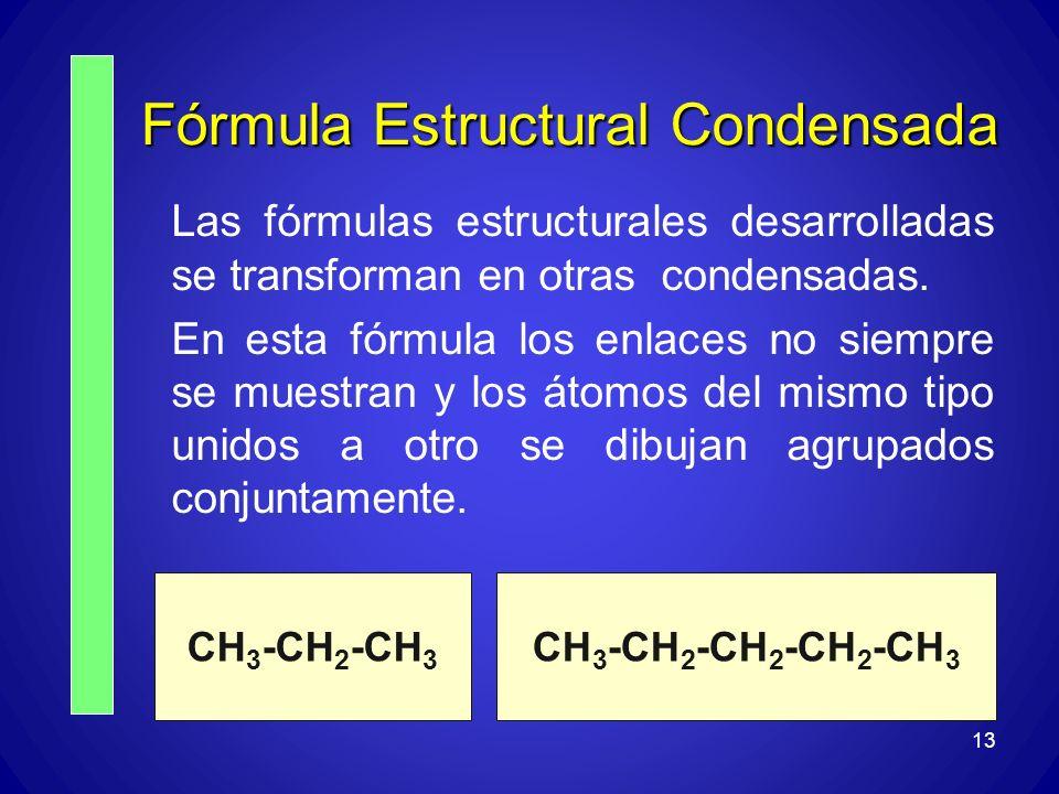 Fórmula Estructural Condensada