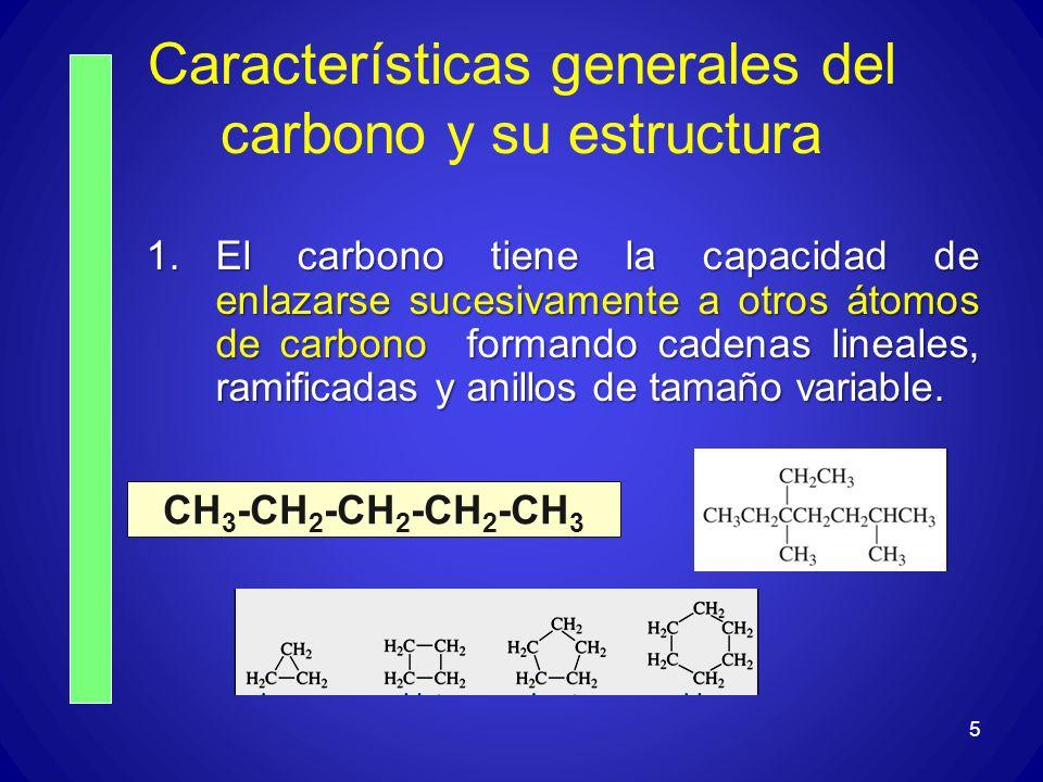 Características generales del carbono y su estructura