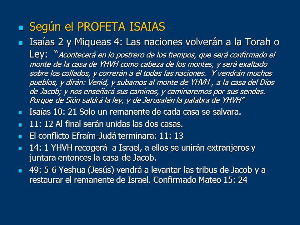 Según el PROFETA ISAIAS
