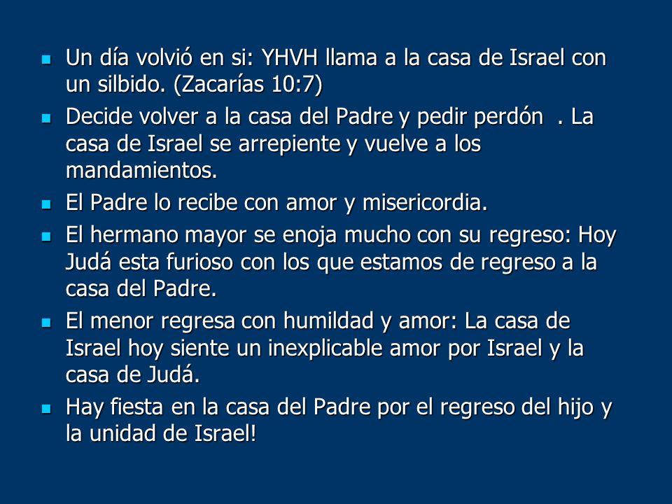 Un día volvió en si: YHVH llama a la casa de Israel con un silbido