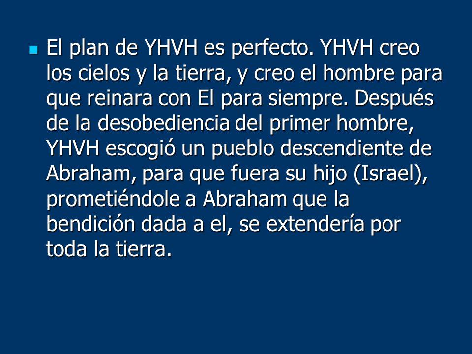 El plan de YHVH es perfecto