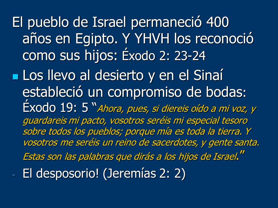 El pueblo de Israel permaneció 400 años en Egipto
