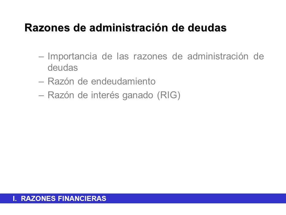 Razones de administración de deudas