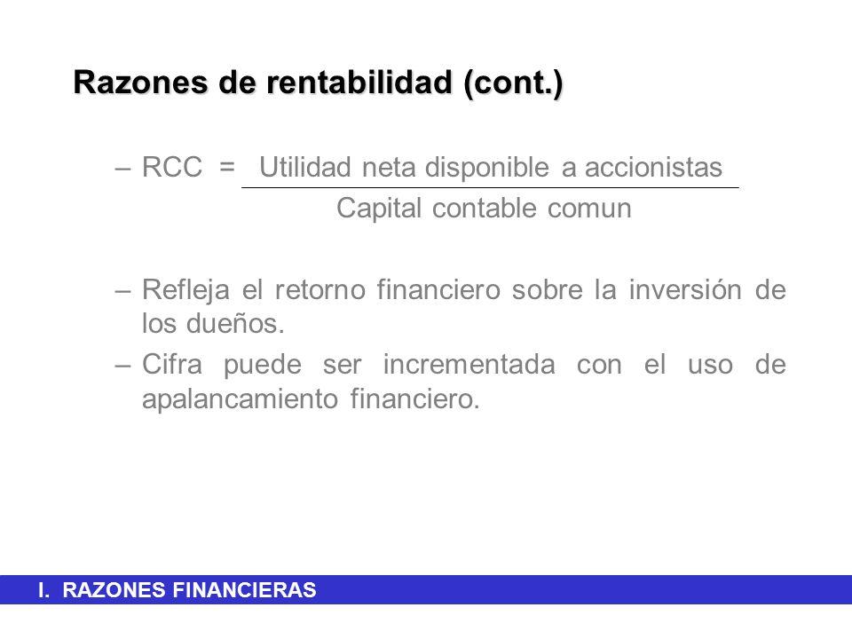 Razones de rentabilidad (cont.)