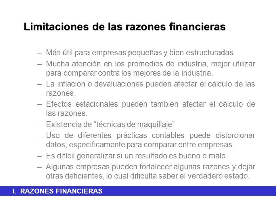 Limitaciones de las razones financieras