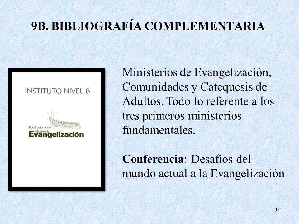 9B. BIBLIOGRAFÍA COMPLEMENTARIA