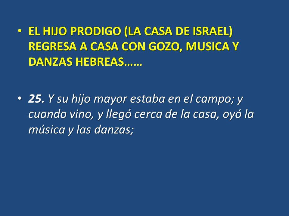 EL HIJO PRODIGO (LA CASA DE ISRAEL) REGRESA A CASA CON GOZO, MUSICA Y DANZAS HEBREAS……