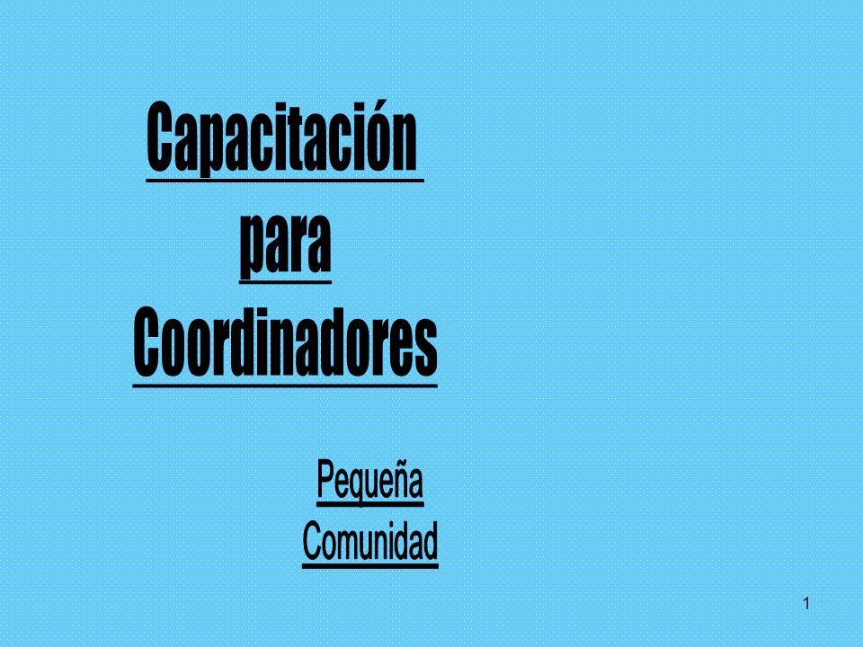 Capacitación para Coordinadores Pequeña Comunidad