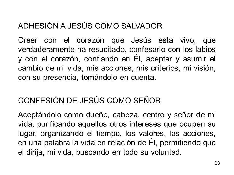 ADHESIÓN A JESÚS COMO SALVADOR