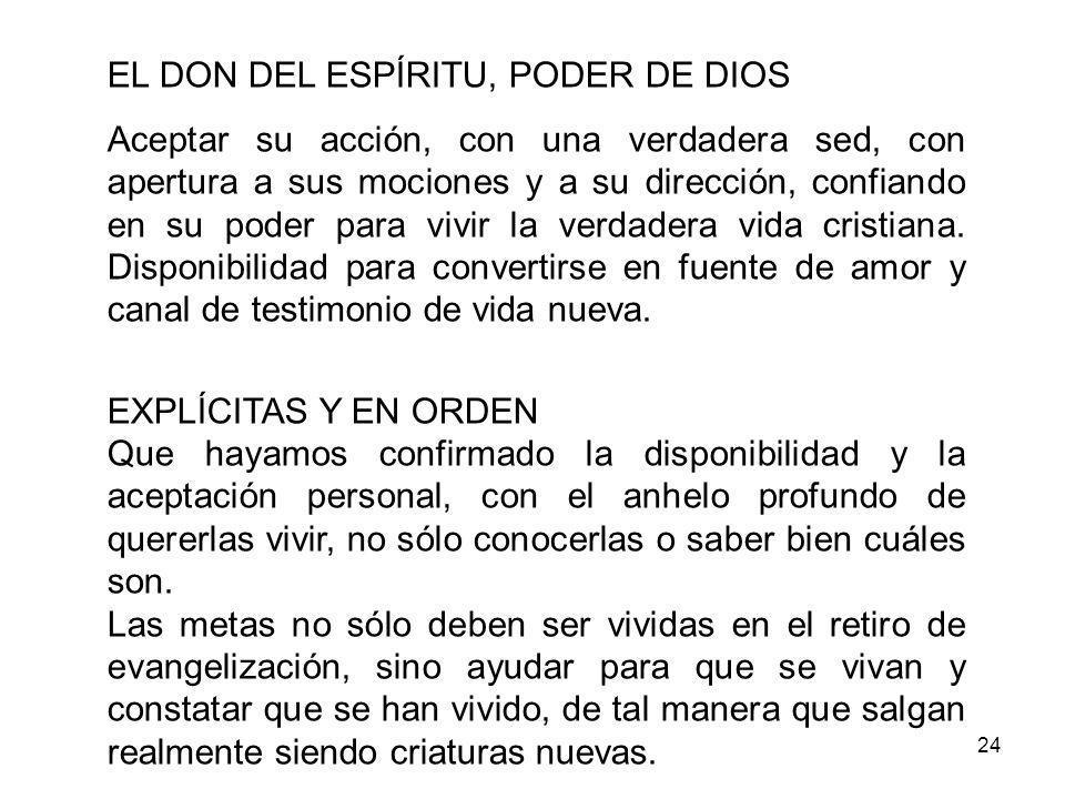EL DON DEL ESPÍRITU, PODER DE DIOS
