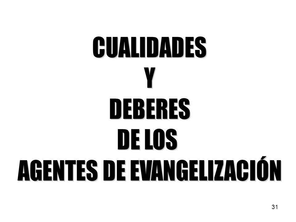 AGENTES DE EVANGELIZACIÓN