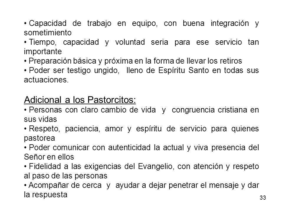 Adicional a los Pastorcitos: