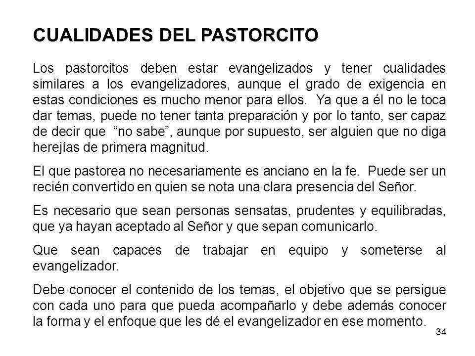 CUALIDADES DEL PASTORCITO