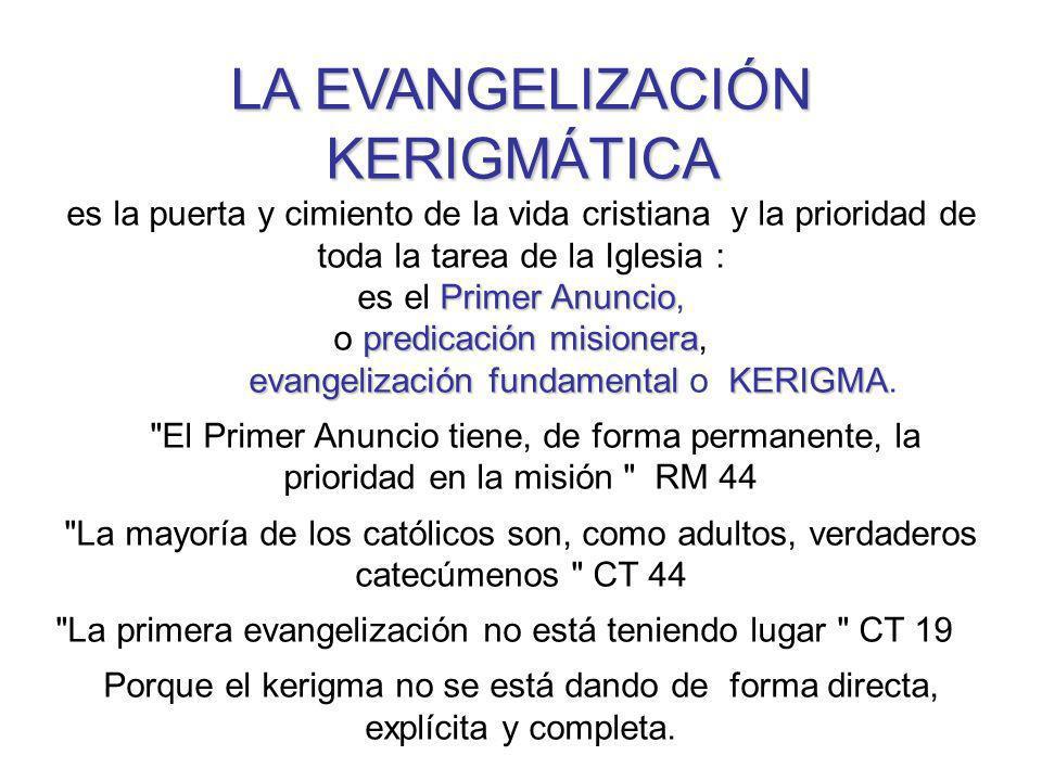 LA EVANGELIZACIÓN KERIGMÁTICA
