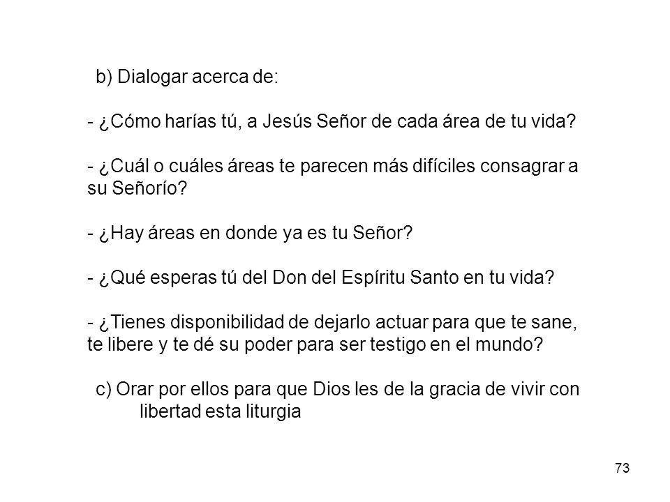 - ¿Cómo harías tú, a Jesús Señor de cada área de tu vida