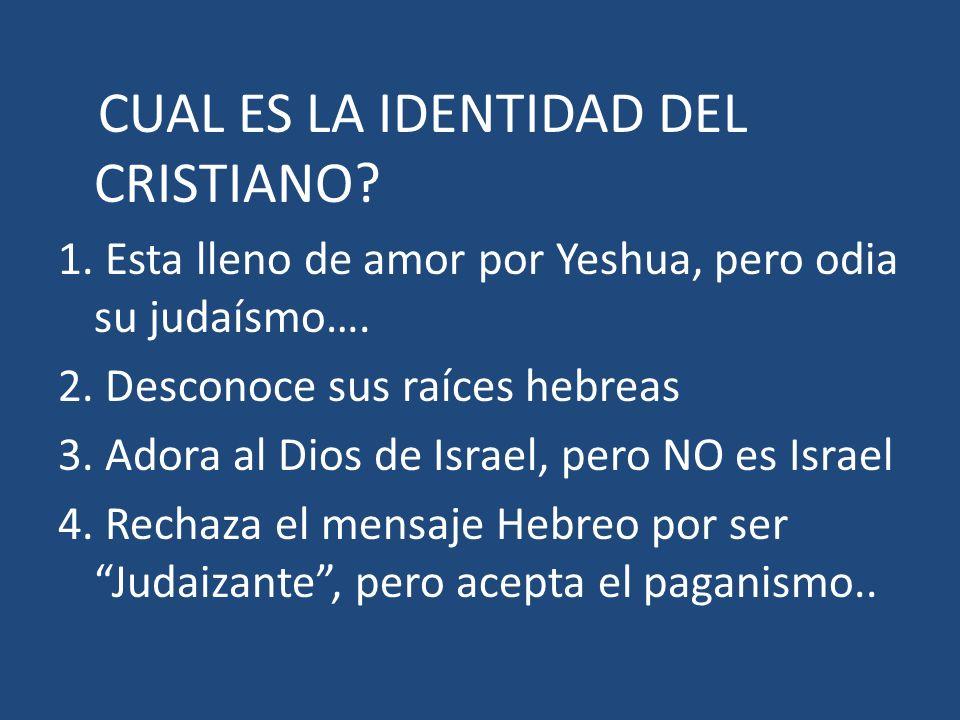 CUAL ES LA IDENTIDAD DEL CRISTIANO