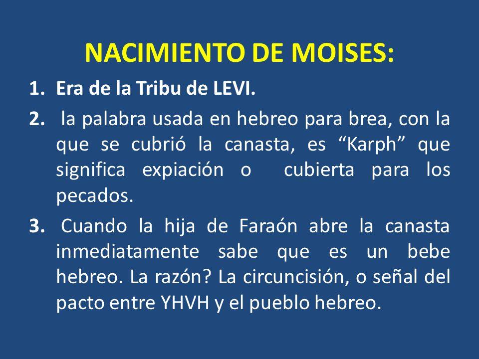 NACIMIENTO DE MOISES: Era de la Tribu de LEVI.